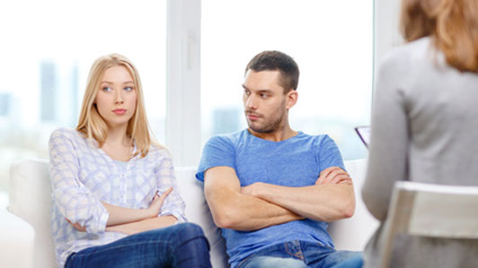 young couple at counselling