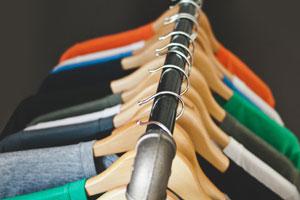 tshirts on hangers