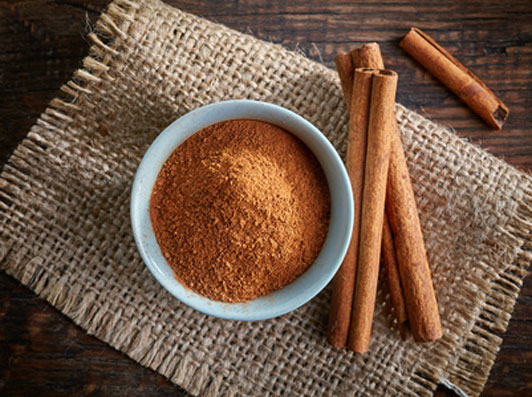 bowl of cinnamon