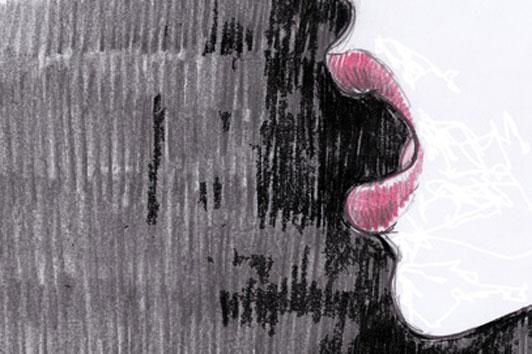 drawing of woman speaking