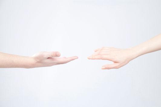 hands drifting apart