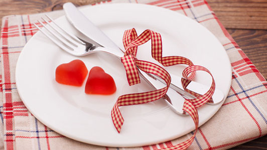 romantic dinner plate