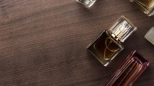 perfume on table