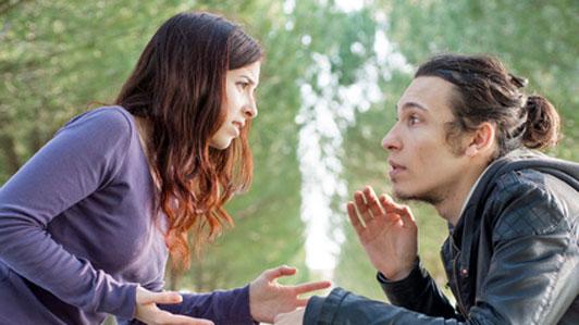 quarrel between couple in park