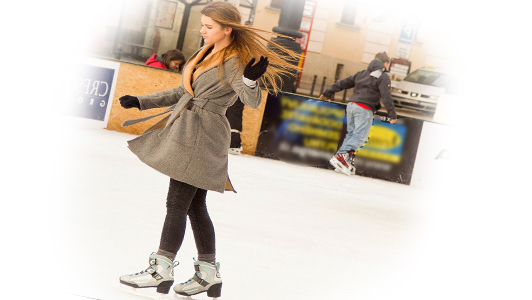 a girl skating on ice