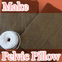 Make your own pelvic pillow