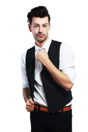 cool guy in black vest