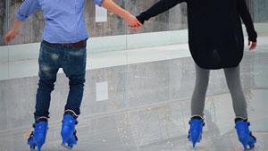 couple on ice