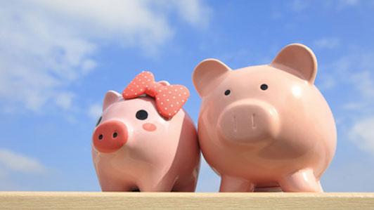 piggy bank couple