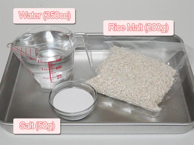ready ingredients salted rice malt Shiokoji