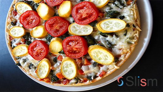 pizza with rich topping