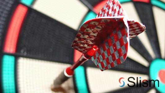 dart board with a dart