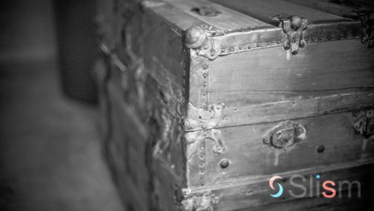 Antique treasure box