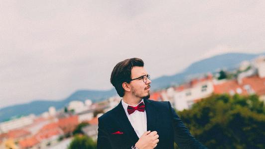 guy in suit outside