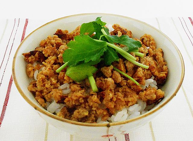 tofu chicken soboro well done