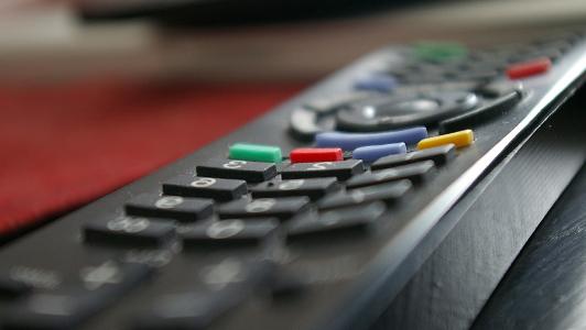 Closeup of a remote control.