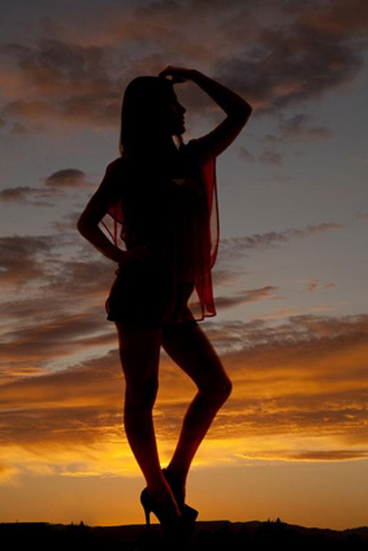 girl standing on horizon