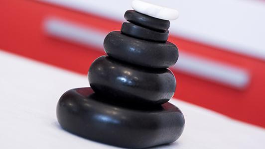 Black stones for spa