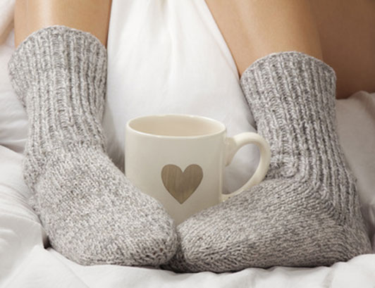 hot cup and feet