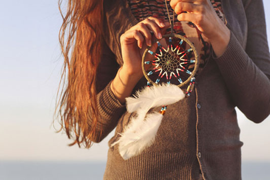 woman and dream catcher