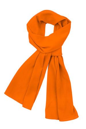 orange scarf on white background