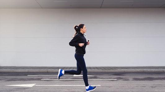 woman on morning jog